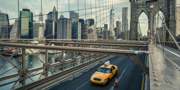 Famous Brooklyn Bridge in NYC, USA.
