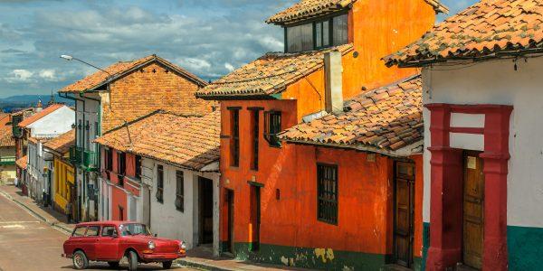 La Candelaria, historic neighborhood in downtown Bogota, Colombia